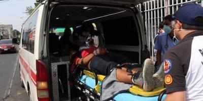 accidente de moto en el anillo Periférico