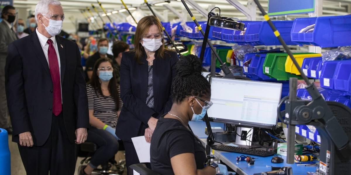 Los primeros ventiladores de GM ya salen de la línea de producción