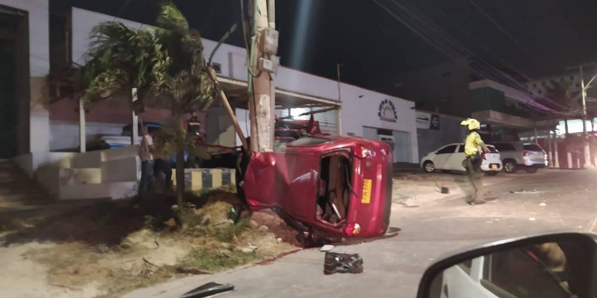 Filtran video del fuerte accidente del hijo de Diomedes Díaz que murió el jueves pasado