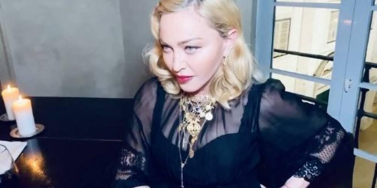 Madonna dio de qué hablar al publicar foto casi desnuda