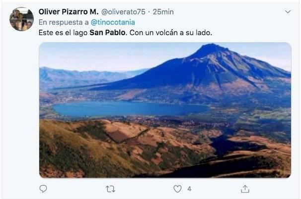 Famoso politólogo ecuatoriano confunde el lago San Pablo y le