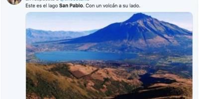 Famoso politólogo ecuatoriano confunde el lago San Pablo y le 'vacilan' en redes