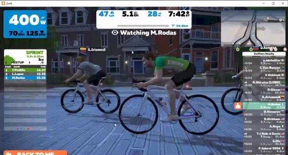 Desafío virtual organizado por la Federación de Ciclismo