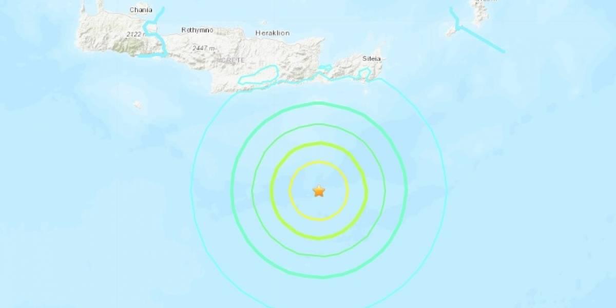 Sismo de magnitud 6 sacude a la isla de Creta en Grecia