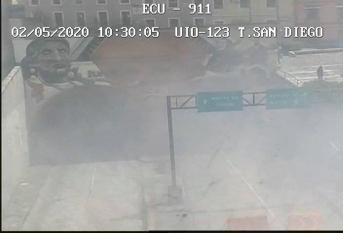 Incendio en el túnel de San Diego, centro de Quito ECU 911