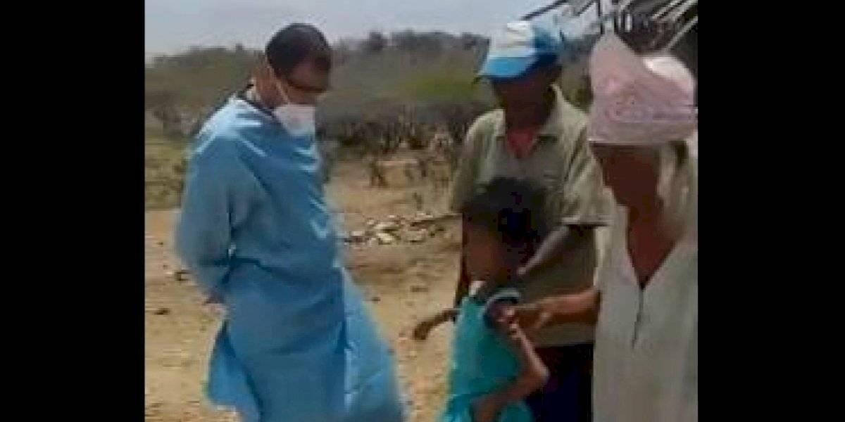 Bienestar Familiar rescató a niños en extrema situación de desnutrición en La Guajira