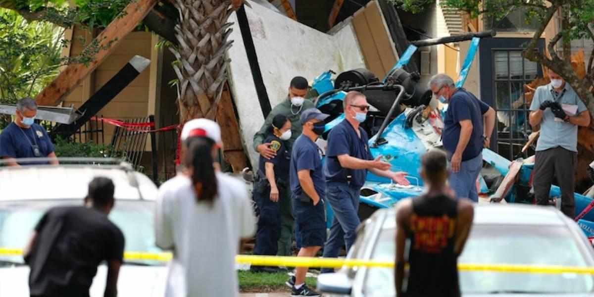 Fallece agente en choque de helicóptero policial en Houston