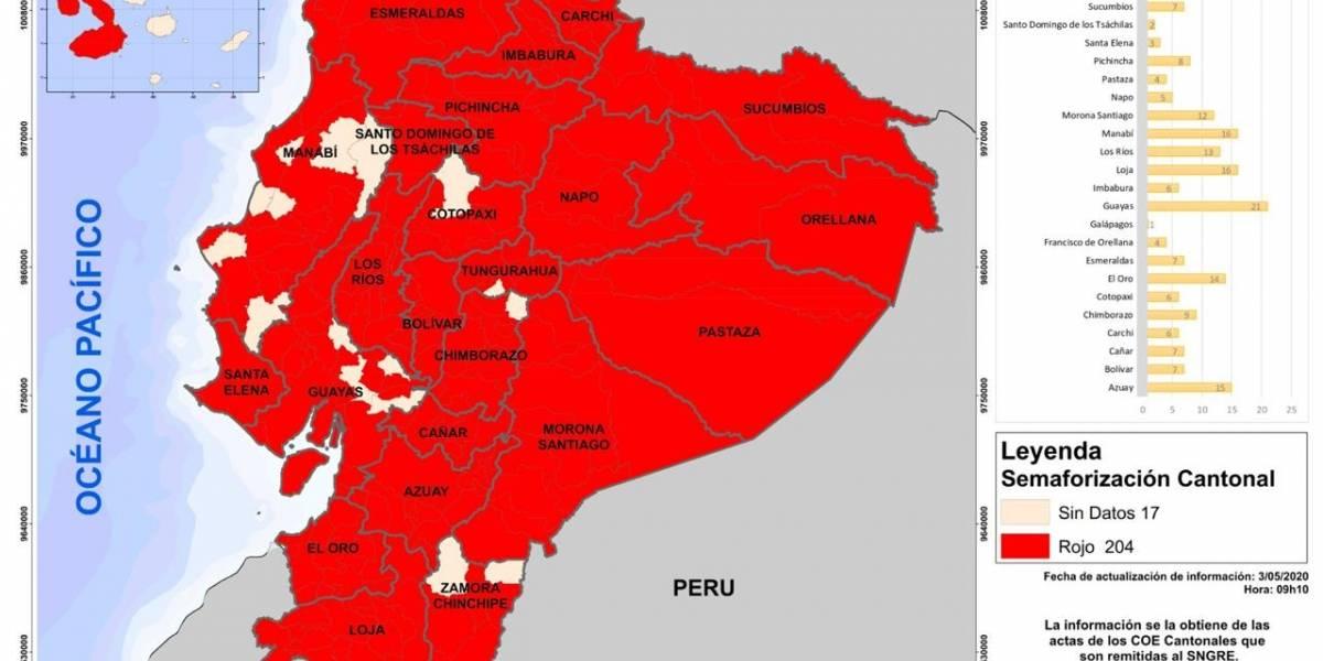 Distanciamiento social: 204 municipios iniciarán con el semáforo en rojo