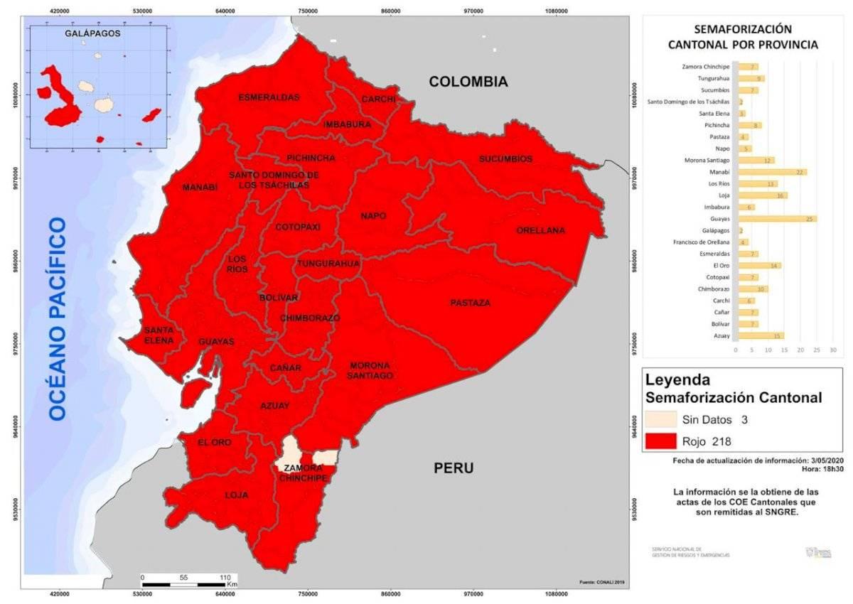 Cantones que confirmaron que inician en ROJO