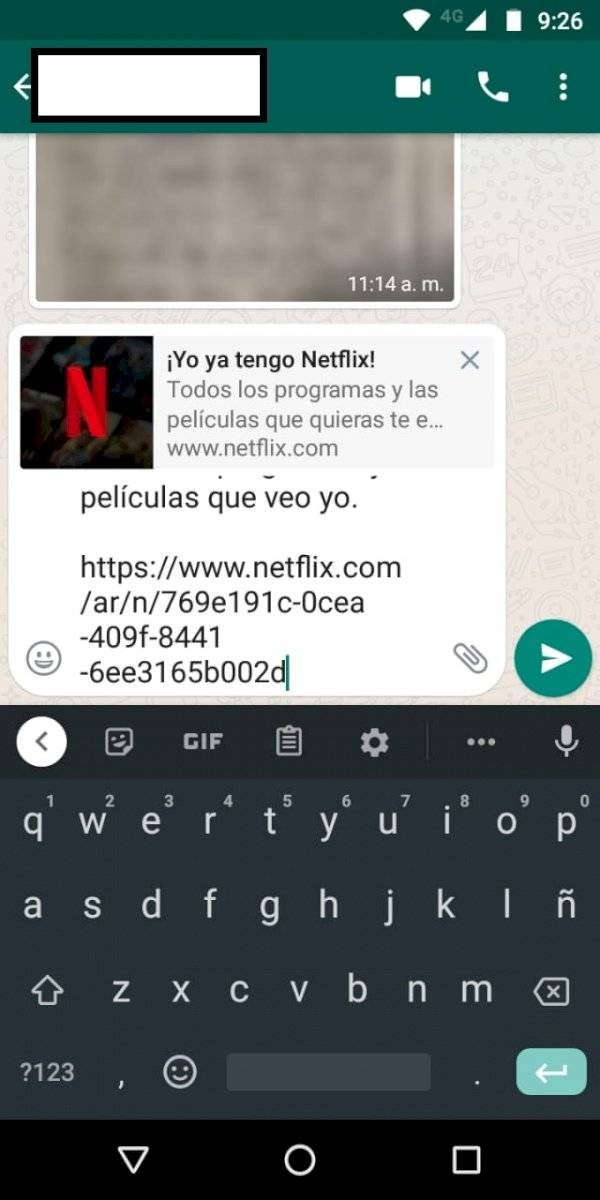 WhatsApp Netflix
