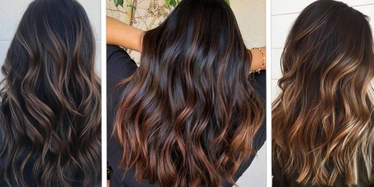 Efectos de color en cabello negro que le darán luz a tu cara