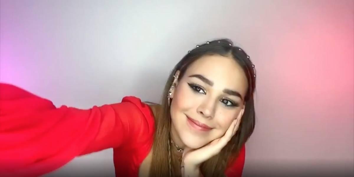 ContigoChallenge: Danna Paola se la juega con reto contra el coronavirus en sus redes sociales