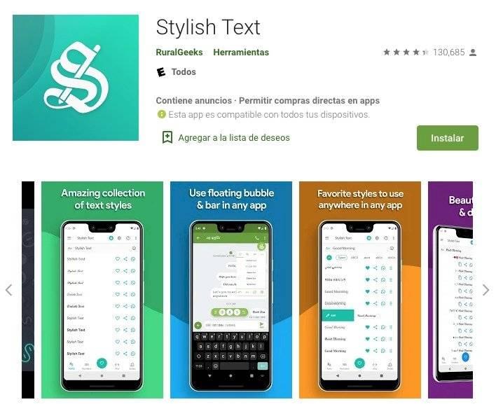 Color de las letras Whatsapp