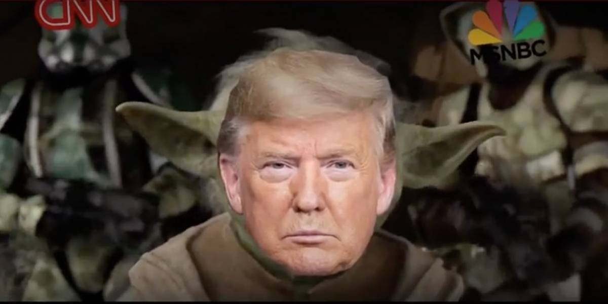 Polémica: Donald Trump se transforma en Yoda de Star Wars y decapita a CNN