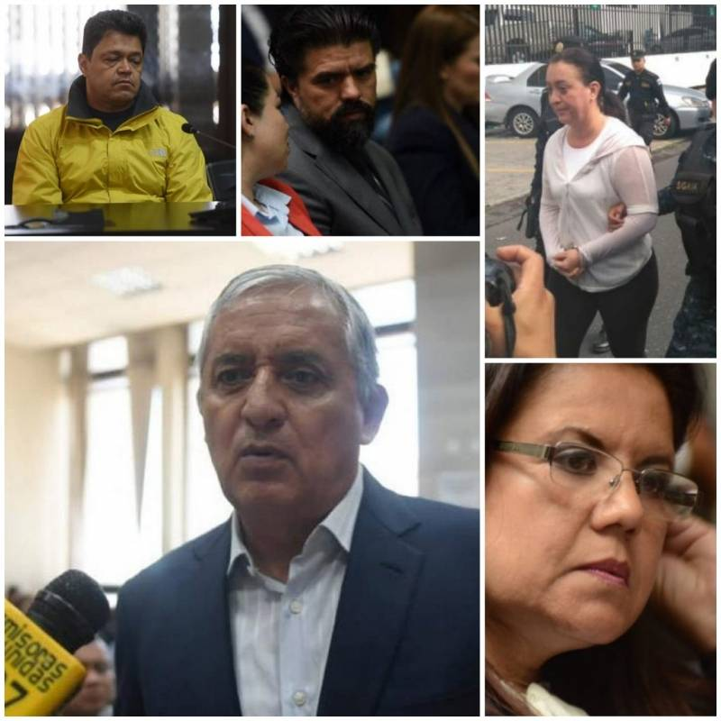 Otto Pérez y otros señalados en caso Cooptación del Estado