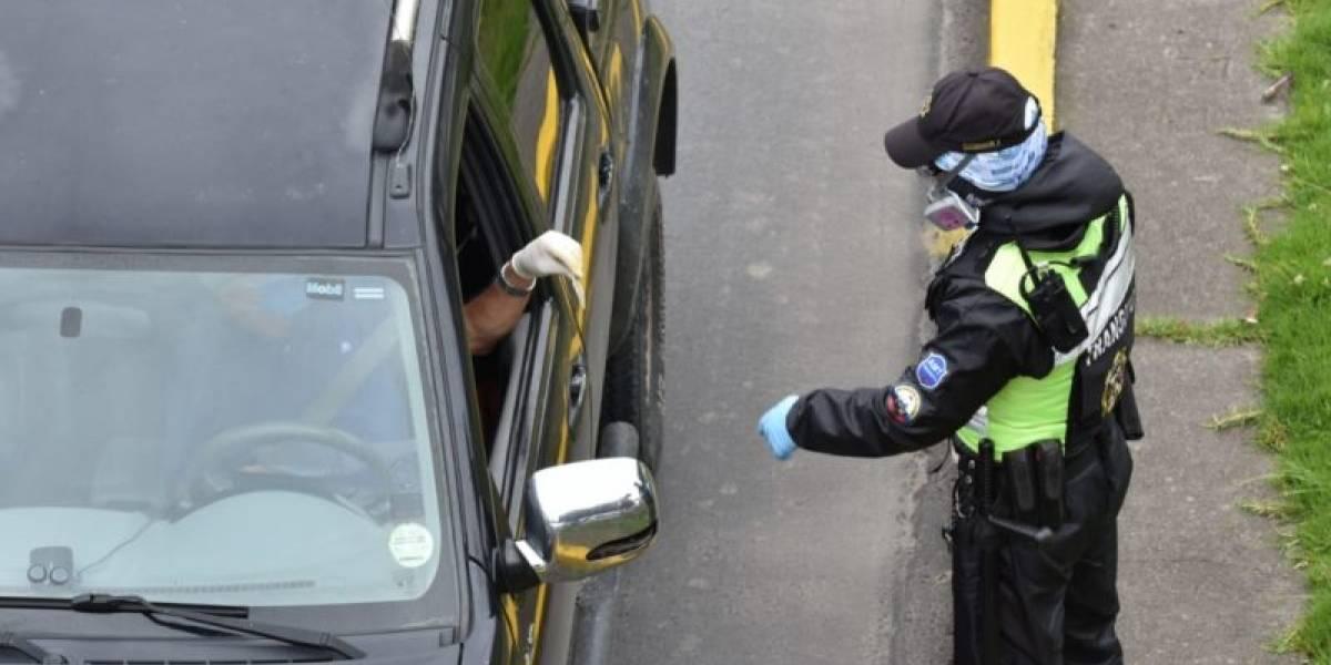 Conductor intentó fugarse de control de tránsito en Quito