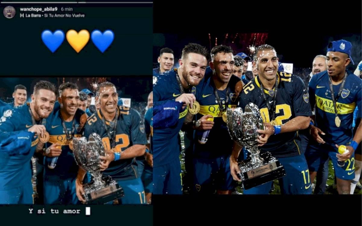 desplante de Ramón Abila de Boca Juniors a Sebastián Villa