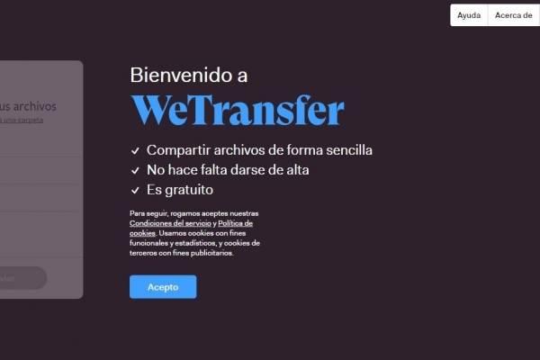 WeTransfer para enviar archivos