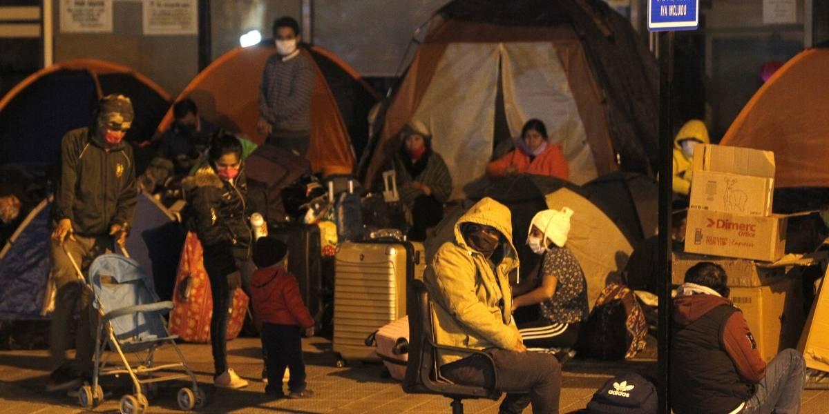 120 migrantes peruanos en situación de calle fueron acogidos por el Arzobispado de Santiago