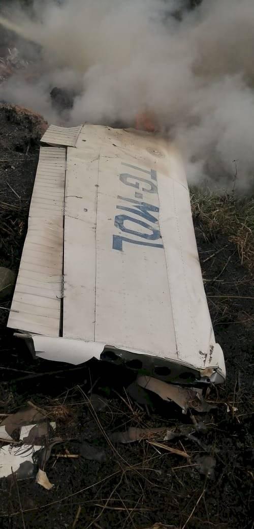 accidente aéreo en Quiché