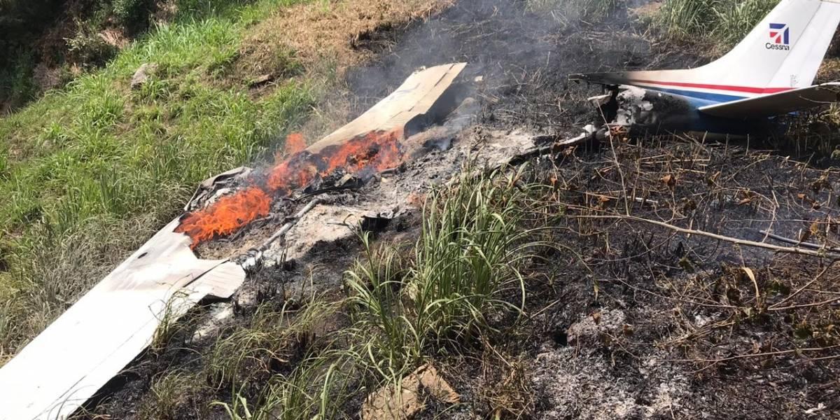 Tres personas mueren en accidente aéreo en Quiché