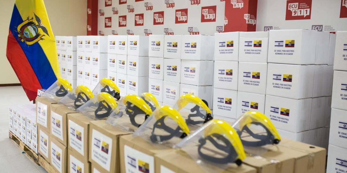 Embajada de Israel en Ecuador entrega alimentos y equipamiento ante emergencia sanitaria