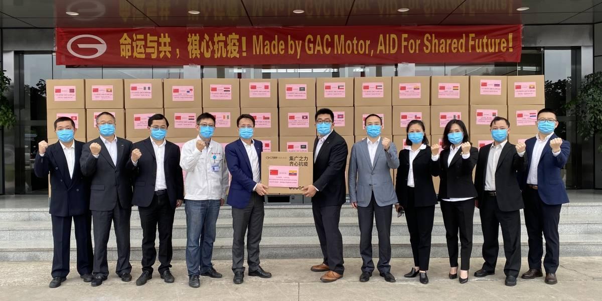 GAC Motor Ecuador donó 30 mil mascarillas al COE Nacional