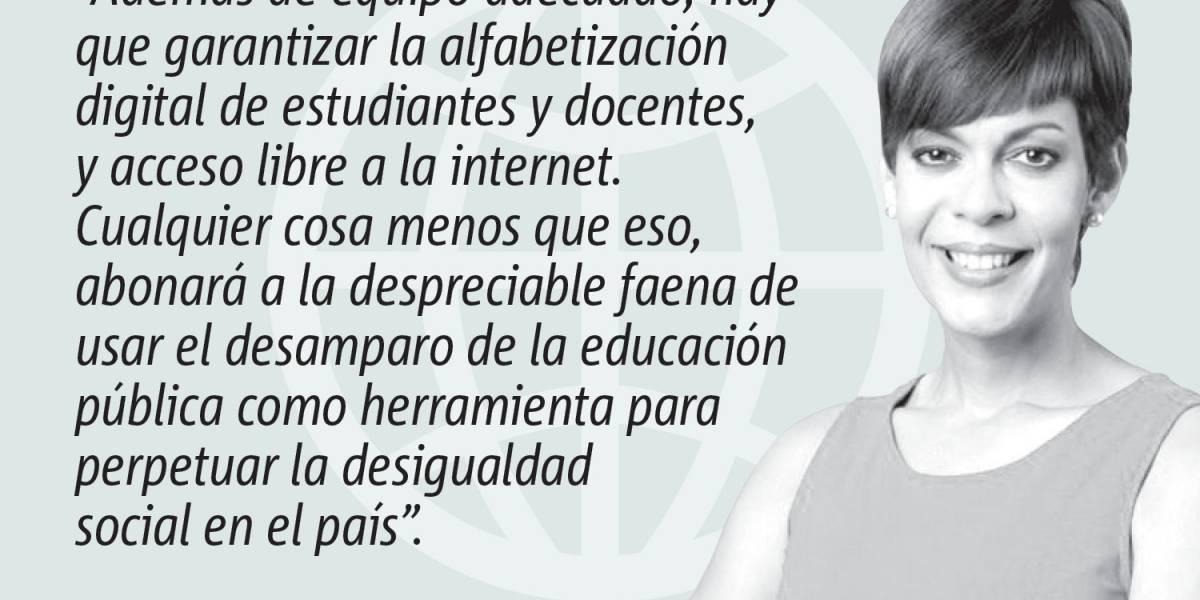 Opinión de María de Lourdes Santiago: Enfrentar la desigualdad digital