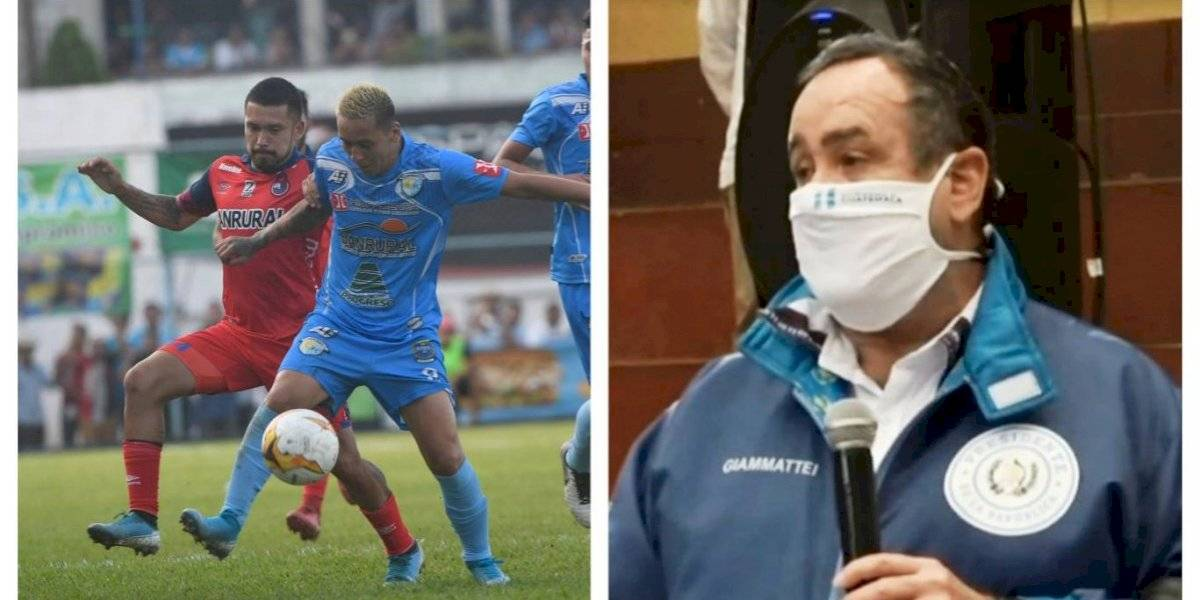 VIDEO. Presidente Giammattei explica el protocolo que se aplicará al futbol