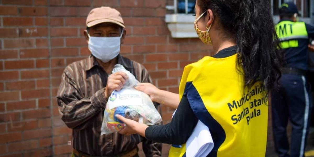 Programa Alimentos y Trabajo de Santa Catarina Pinula apoya a familias afectadas