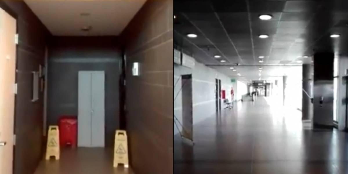 """Graban """"actividad paranormal"""" en aeropuerto colombiano cerrado por la pandemia"""