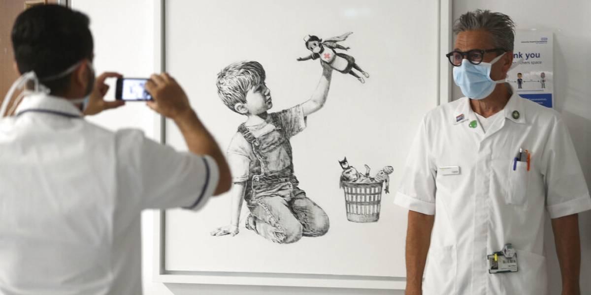 Banksy rinde homenaje a médicos y enfermeras que luchan contra el covid-19