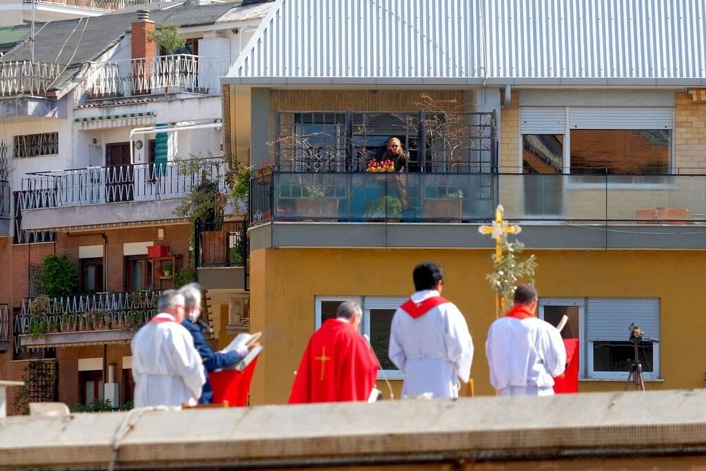 Domingo de Ramos en Italia, en plena pandemia de Covid-19