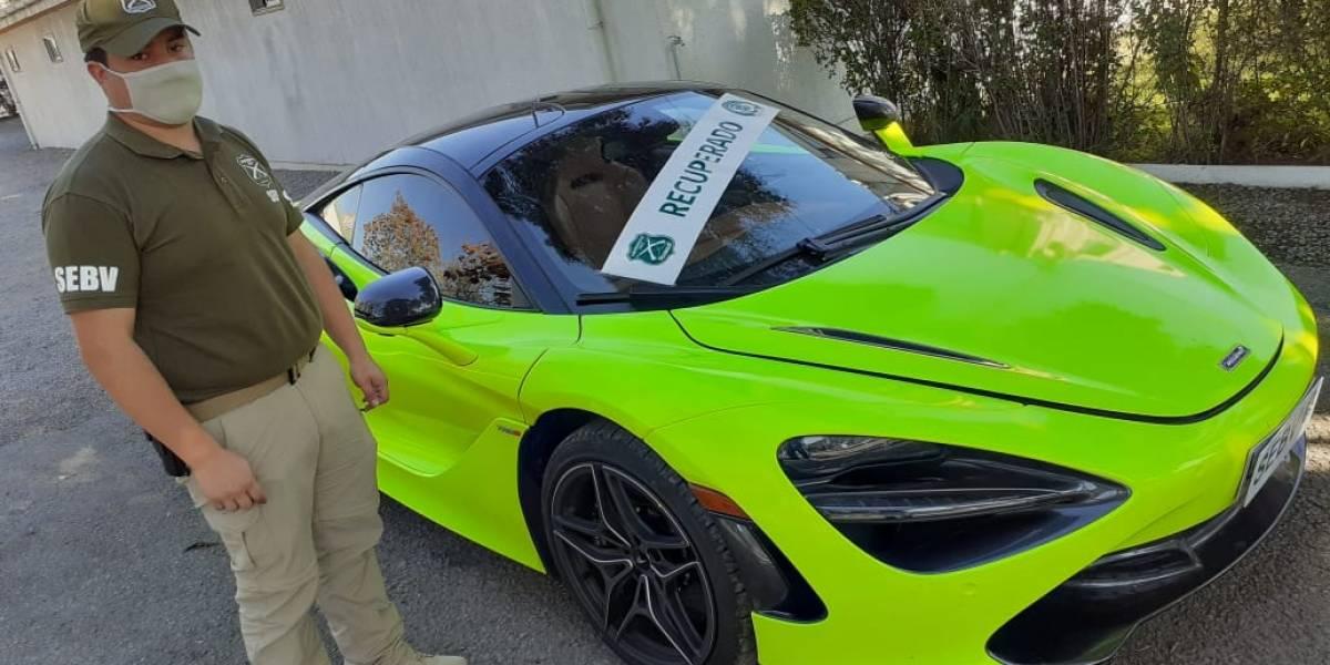 Recuperan lujoso auto de 340 millones de pesos comprado con cheques sin fondos: el sujeto le había cambiado el color