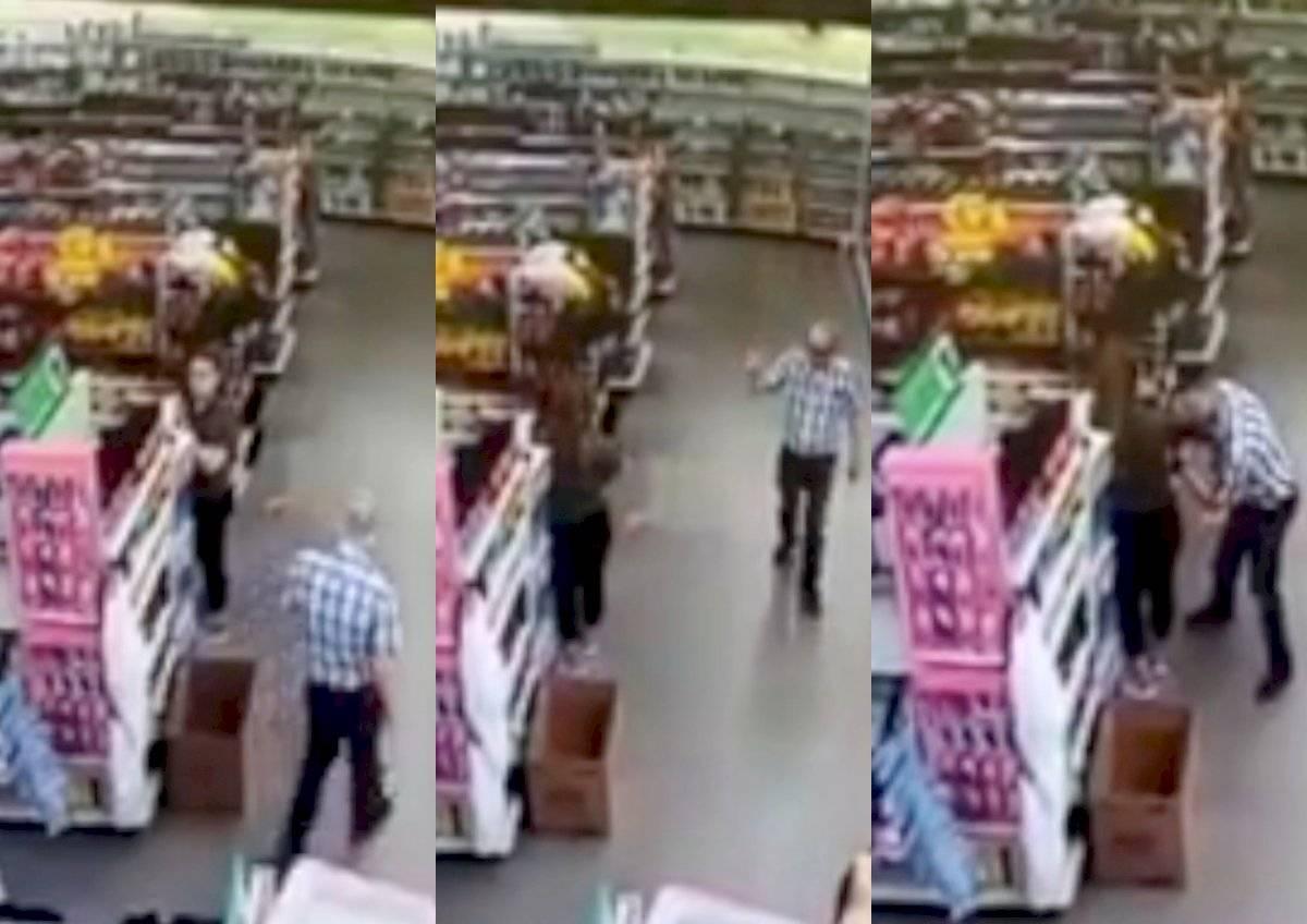 Hombre se limpia nariz en ropa de empleada que le pidió usar tapabocas