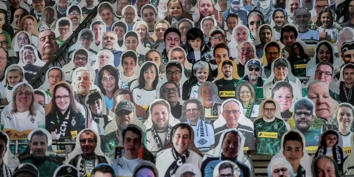 Hinchas de cartón: Los fanáticos del Borussia Monchengladbach no abandonan