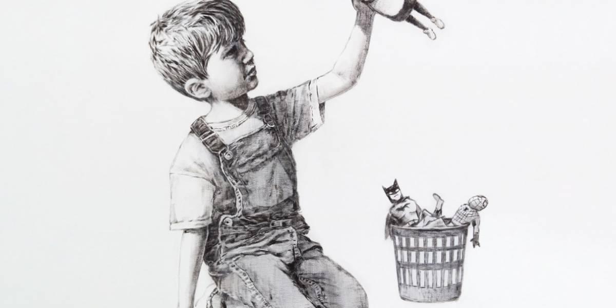 Obra de Banksy aparece en hospital británico
