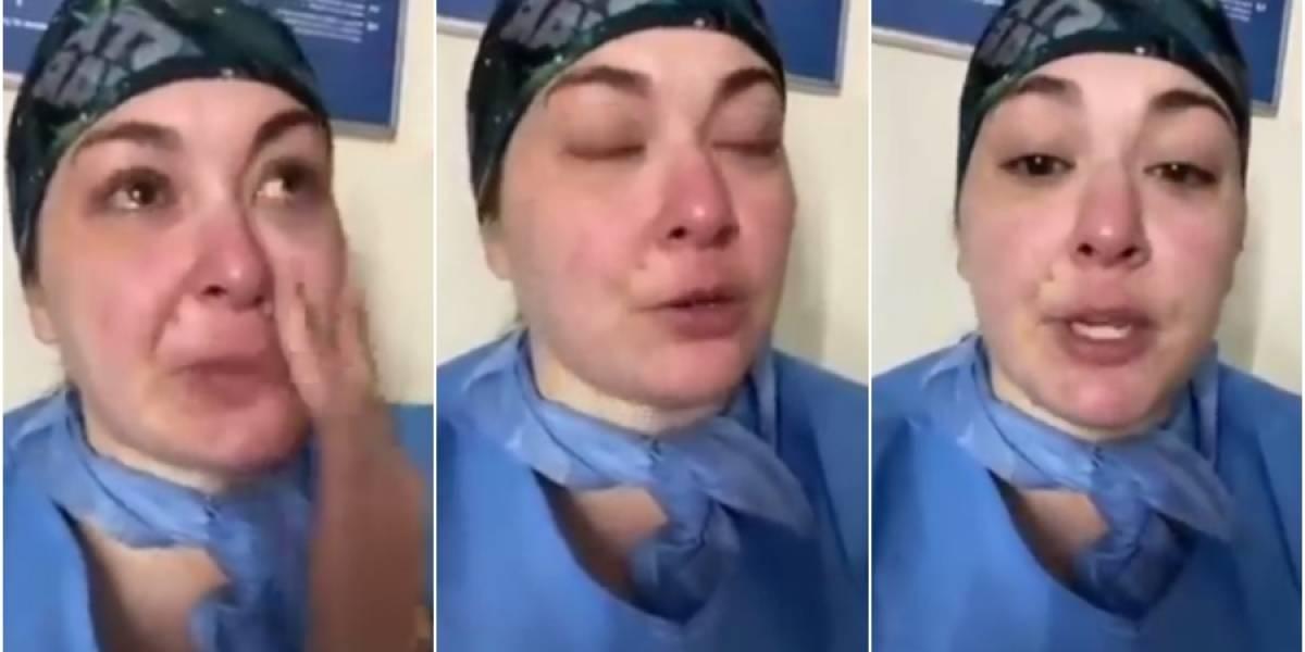 """""""Los pacientes con coronavirus están siendo asesinados"""": La fuerte denuncia de una enfermera en un hospital de Nueva York"""
