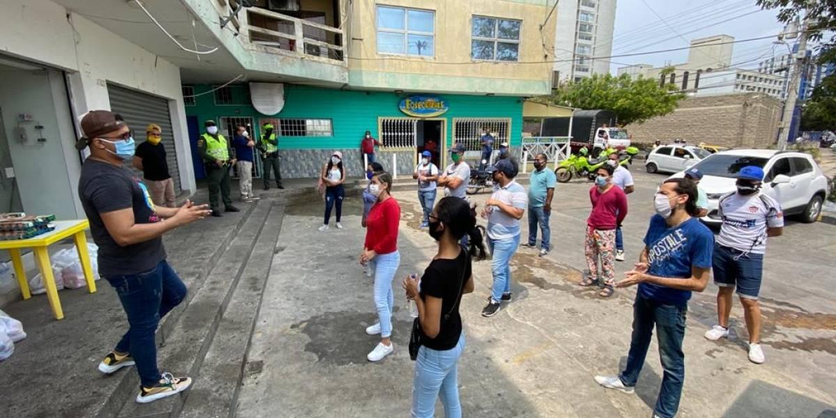 La rumba está apagada pero la solidaridad está encendida en Barranquilla