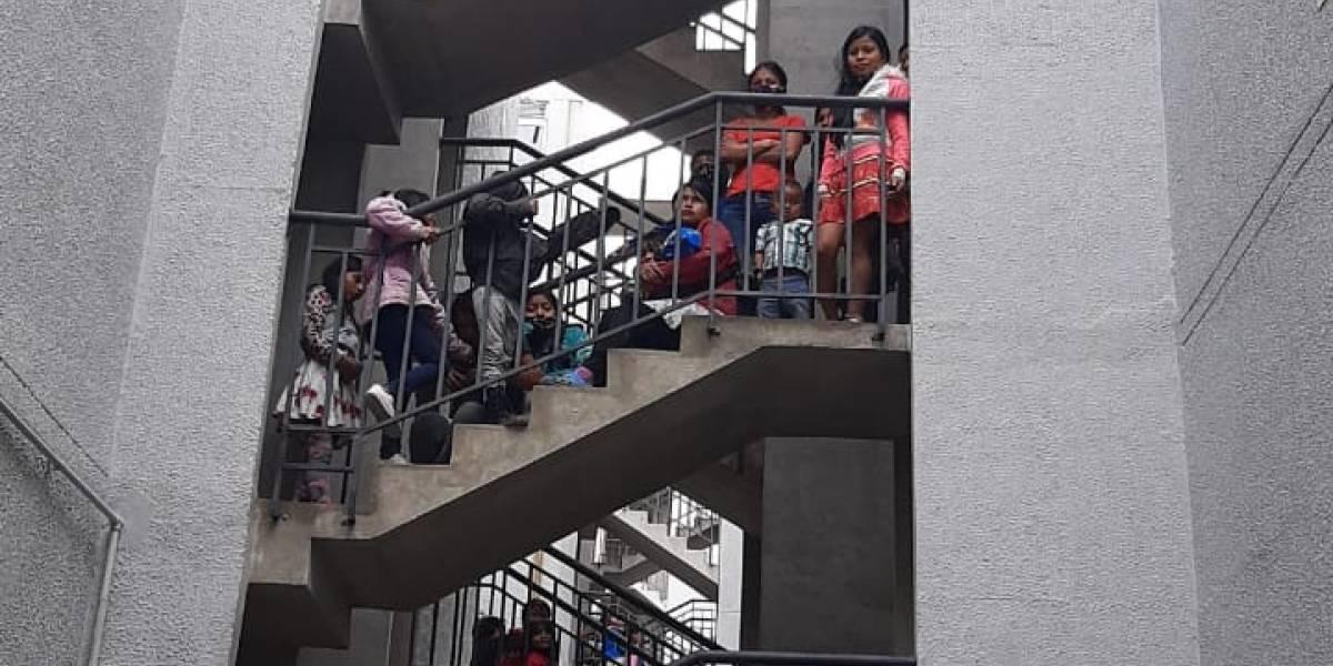 (VIDEO) Más de 300 indígenas se tomaron este jueves proyecto de vivienda en Bogotá