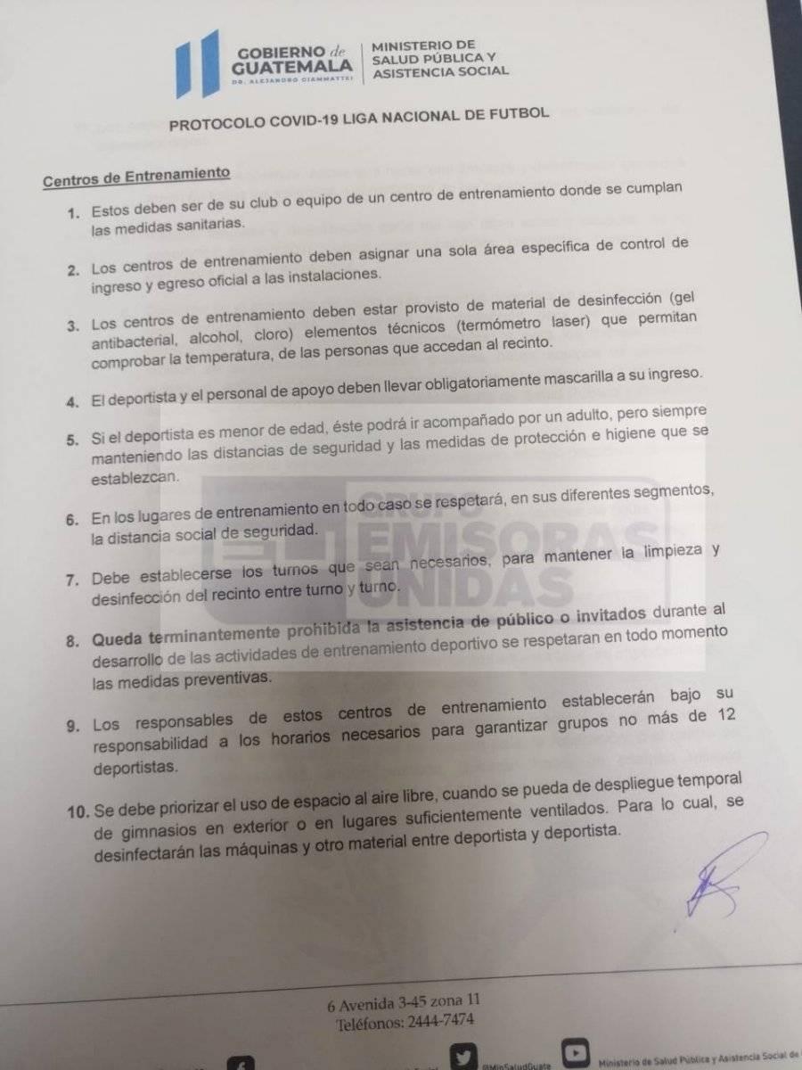 Liga Nacional recibió autorización para reiniciar entrenamientos.