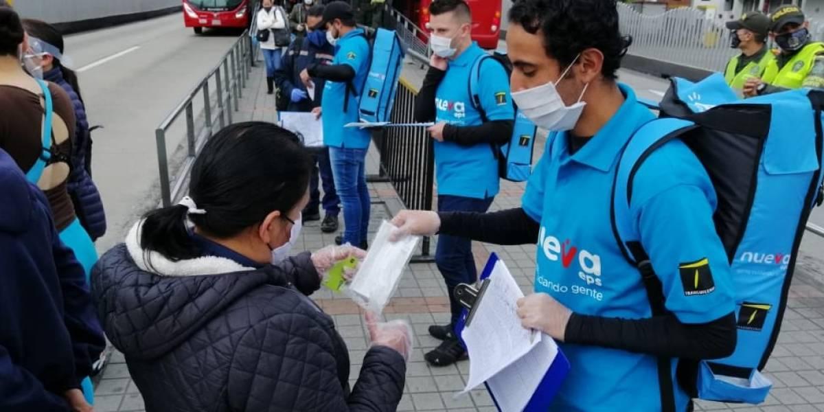 Usuarios de TransMilenio recibirán tapabocas gratis