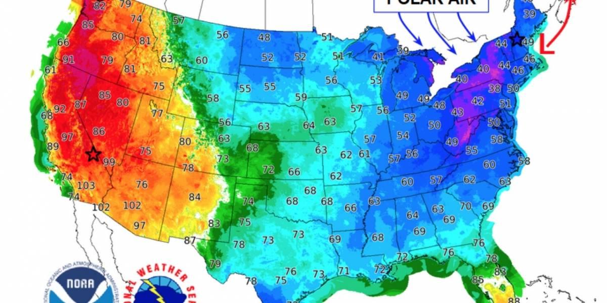 Vórtice polar: el extraño fenómeno que mañana llevará las temperaturas de Estados Unidos al extremo