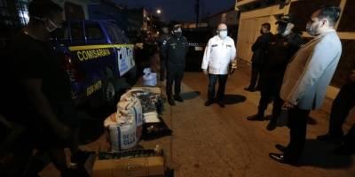 Entregan víveres y mascarillas a agentes de PNC que están en cuarentena