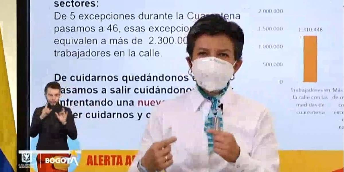 "(VIDEO) ""Vamos a vivir asumiendo que tenemos coronavirus"": Claudia López"
