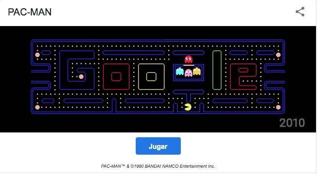Pac-Man en Google