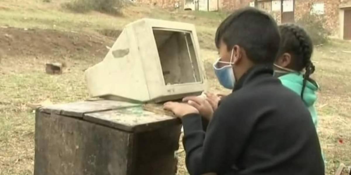 Noticia de niños que sacaron computador de la basura, indigna al país