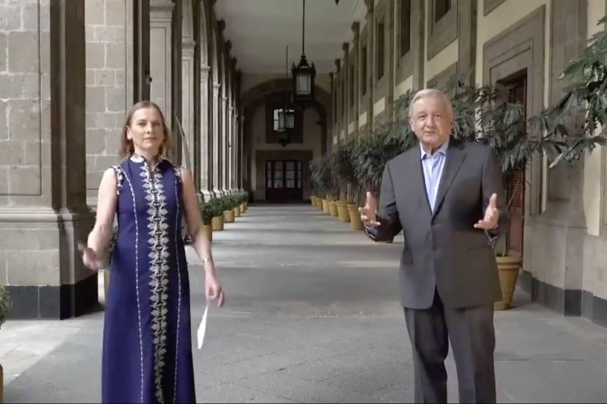 Con 'Amor eterno' de Juan Gabriel, López Obrador y Beatriz ...