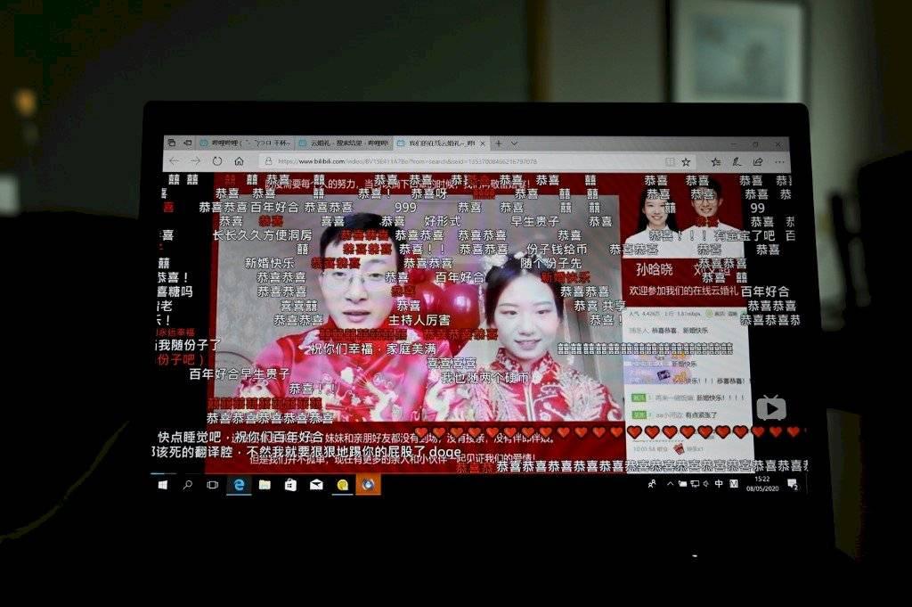 Boda online en China