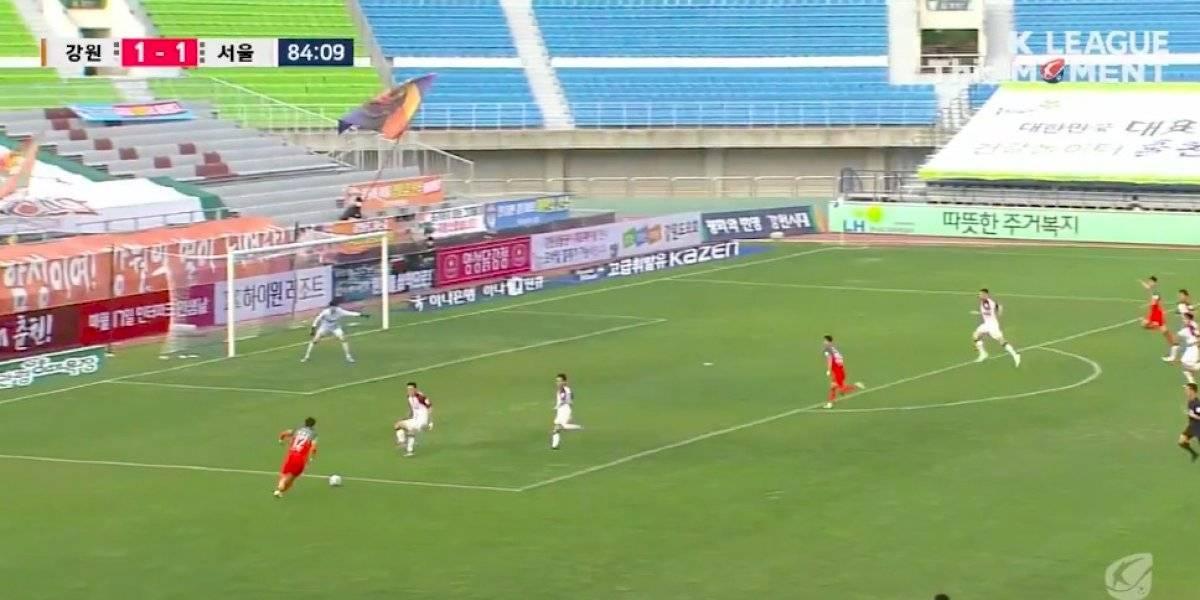 VIDEO. El futbol coreanovuelve con un gol de taco que revienta las redes sociales